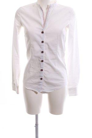 Aglini Hemdblouse wit zakelijke stijl