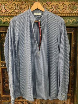 Aglini Blusa de cuello alto multicolor tejido mezclado