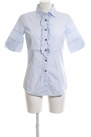 Aglini Kurzarm-Bluse blau Business-Look