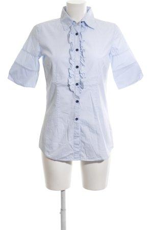 Aglini Blusa de manga corta azul estilo «business»