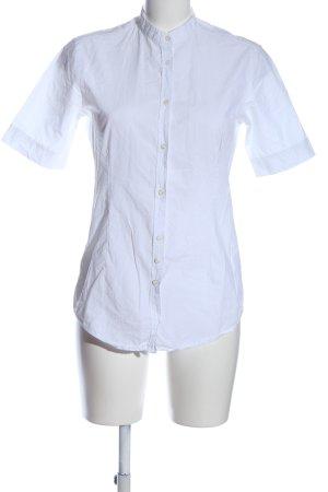 Aglini Koszula z krótkim rękawem biały W stylu casual