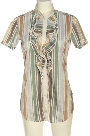 Aglini Camicia a maniche corte motivo a righe elegante