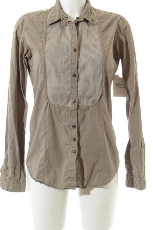 Aglini Blusa de manga larga gris verdoso-gris claro estilo «business»