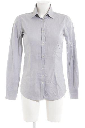 Aglini Blusa de manga larga gris claro-gris oscuro estilo «business»