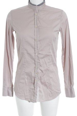 Aglini Blusa de manga larga rosa claro-rosa empolvado estilo «business»