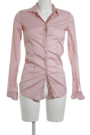 Aglini Langarm-Bluse rosa Paillettenverzierung