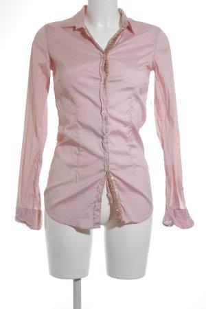 Aglini Langarm-Bluse rosa Schimmer-Optik