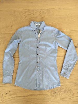 Aglini Blusa de manga larga azul celeste Algodón
