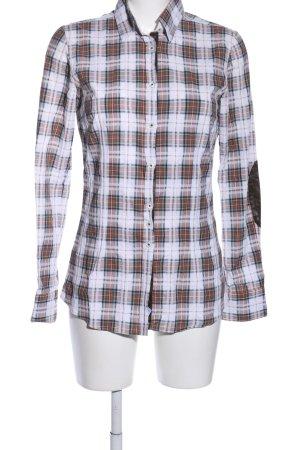 Aglini Shirt met lange mouwen geruite print casual uitstraling