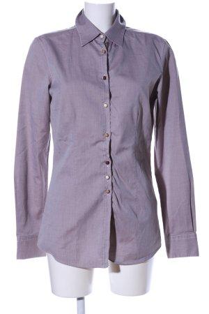 Aglini Camisa de manga larga lila moteado estilo «business»