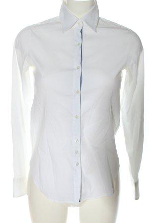 Aglini Camicia a maniche lunghe bianco-blu stile professionale