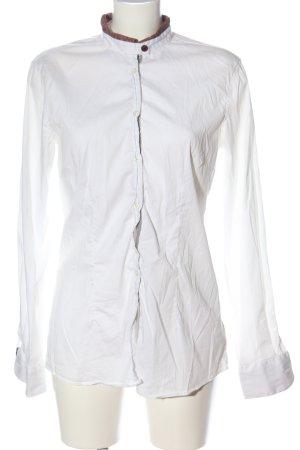 Aglini Camisa de manga larga blanco look casual
