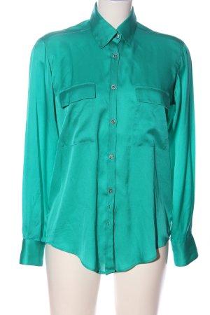 Aglini Koszula z długim rękawem turkusowy W stylu casual