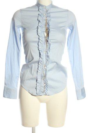 Aglini Camicia a maniche lunghe blu stile professionale