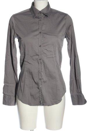 Aglini Koszula z długim rękawem jasnoszary W stylu casual