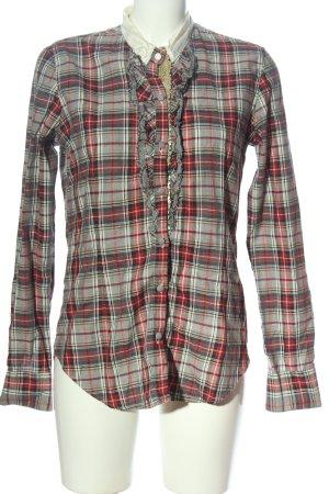 Aglini Camisa de manga larga estampado a cuadros estilo «business»