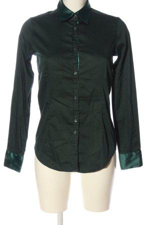 Aglini Camicia a maniche lunghe verde stile professionale