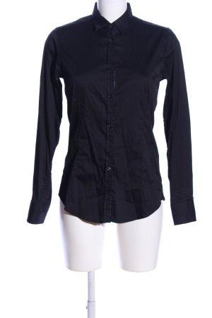 Aglini Shirt met lange mouwen zwart zakelijke stijl