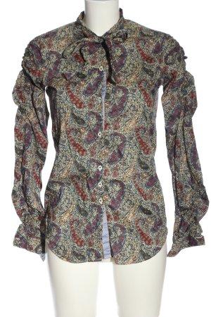 Aglini Langarmhemd abstraktes Muster Casual-Look