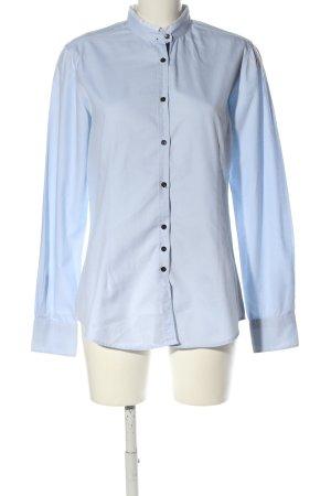 Aglini Shirt met lange mouwen blauw zakelijke stijl