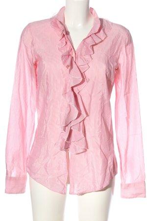 Aglini Camicia a maniche lunghe rosa-bianco motivo a righe stile casual