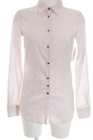 Aglini Camisa de manga larga rojo claro-blanco puro estampado a rayas elegante