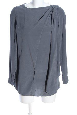 Aglini Blusa de manga larga gris claro elegante