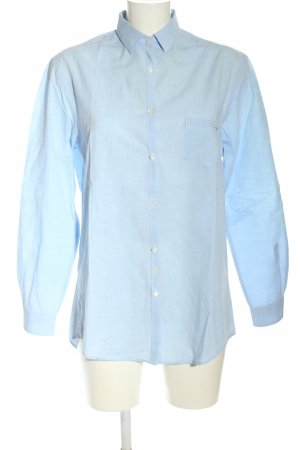 Aglini Linen Blouse blue business style