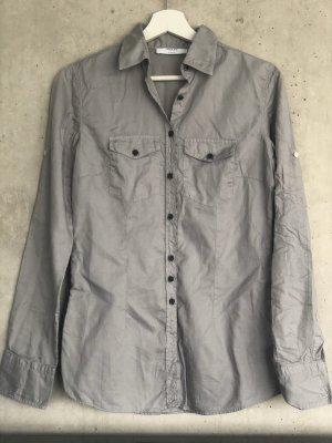 Aglini Blusa de manga larga gris claro-gris