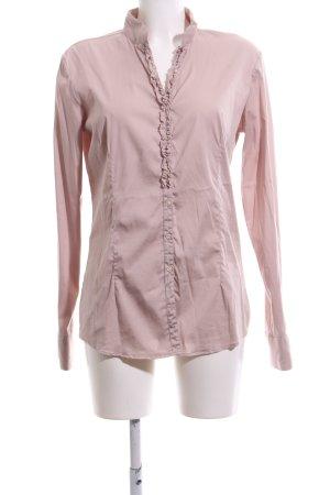 Aglini Ruche blouse roze zakelijke stijl