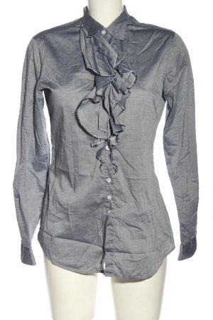 Aglini Camicetta con arricciature grigio chiaro stile casual