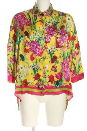Aglini Blusa in seta motivo floreale stile casual