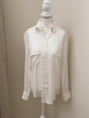 Aglini Blusa transparente blanco Seda