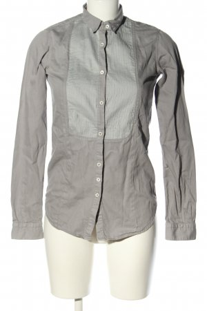 Aglini Blusa de cuello alto gris claro estilo «business»