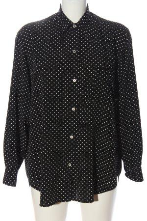 agnes b. Koszula z długim rękawem czarny-biały Wzór w kropki W stylu casual