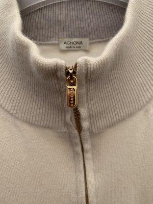 Agnona Cashmere Jumper natural white cashmere