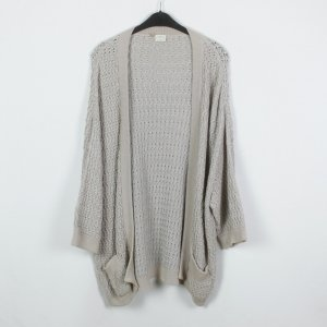 Agnona Knitted Cardigan cream-light grey cotton