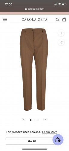 Agnona Jersey Pants brown-light brown