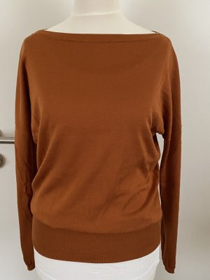 Agnona Knitted Sweater cognac-coloured-brown