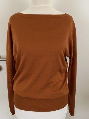 Agnona Pull tricoté cognac-brun