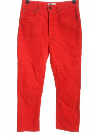 AGOLDE Corduroy Trousers red casual look