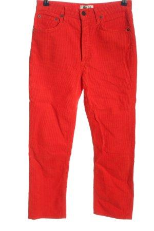 AGOLDE Pantalón de pana rojo look casual