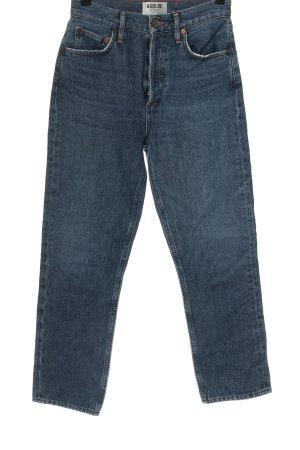 AGOLDE Jeans taille haute bleu style décontracté