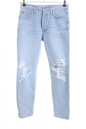 AGOLDE Hoge taille jeans blauw straat-mode uitstraling