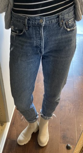 AGOLDE Hoge taille jeans donkerblauw-blauw