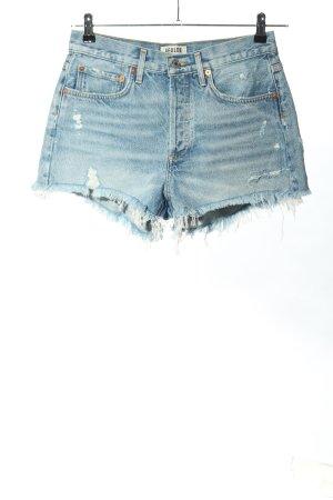 AGOLDE Jeansshorts blau Casual-Look
