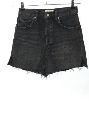 AGOLDE Jeansshorts schwarz Casual-Look