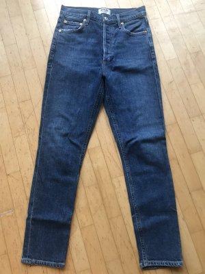 AGOLDE Jeans taille haute multicolore