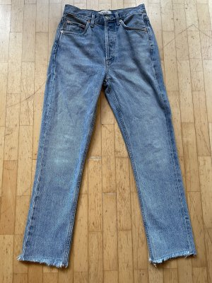 Agolde Riley Zephyr Straight Slim Jeans Cut Off
