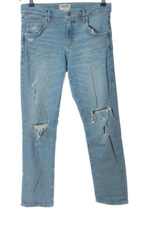 AGOLDE Jeansy z prostymi nogawkami niebieski W stylu casual